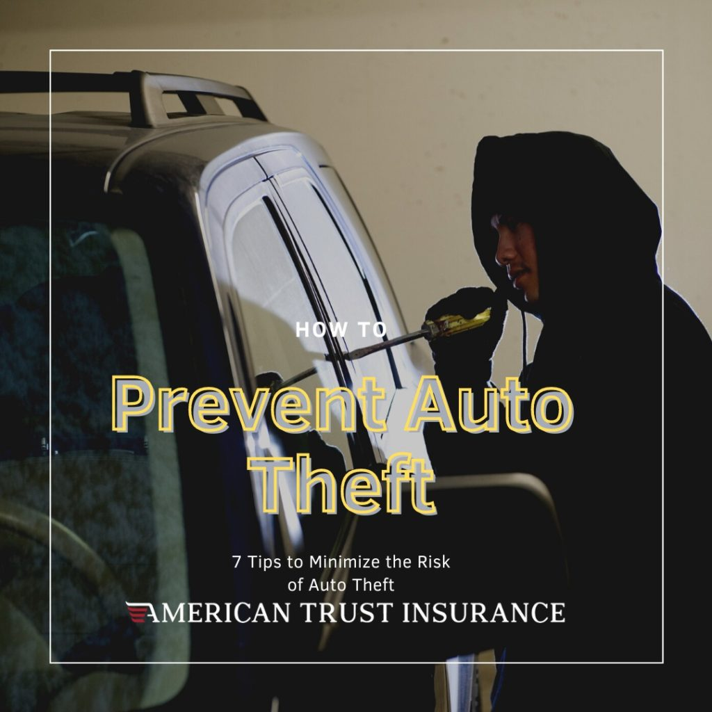 7 Tips to Minimize the Risk of Auto Theft